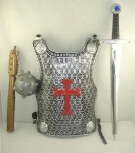 Crusaders' metal armour
