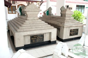 Prince Diponegoro's grave in Makassar, South Sulawesi.
