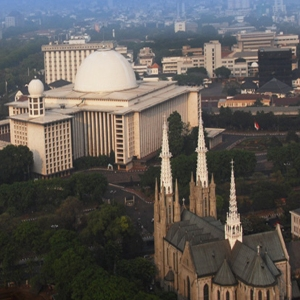 Istiqlal Mosque and Cathedral Church in Jakarta