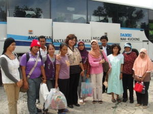 damri passengers