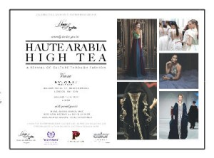 An invitation of Hauter Arabia High Tea on December 11, 2013