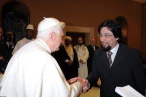 With Pope Benedict XVI (2008)