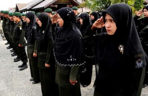 Aceh's Wilayatul Hisbah female officers.