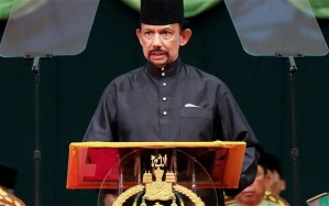 His Majesty Sultan Haji Hassanal Bolkiah, Sultan and Yang DiPertuan of Brunei Darussalam introduces the Islamic Penal Code on 22 October 2013.
