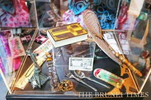 A showcase of some banned items in the Islamic Da'wah Centre in Brunei Darussalam. Picture: BT.