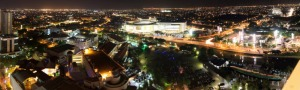 Surabaya at night.