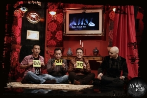 Bagito Group in a TV program 'Hitam Putih' hosted by Deddy Corbuzier.