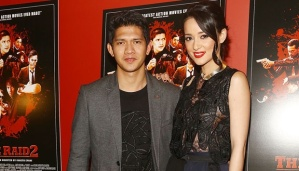 The Raid 2: Berandal's actor and actress, Iko Uwais, who played as Rama (left, male) and Julie Estelle, who played as Hammer Girl (right, female) at the movie premiere at Sunshine Landmark, New York (17/3). Photo by Astrid Stawiarz/Getty Images