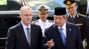 Palestine PM Palestina Rami Hamdallah & Indonesian President Susilo Bambang Yudhoyono in Jakarta.