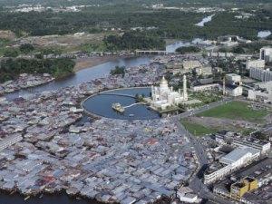 Aerial view of Masjid SOAS, BSB.
