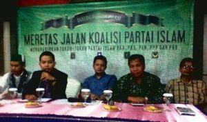 A seminar on Islamic political parties coalition in Jakarta.