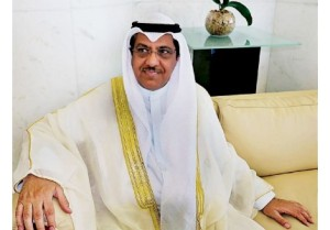 The head of the delegation from Kuwait National Assembly, Deputy Speaker Mubarak Bunaya Al-Khurainij, during an interview with The Brunei Times. Photo: BT/Waqiuddin Rajak