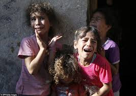 gaza girl cry