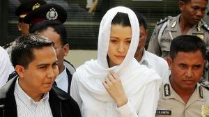 Former model Michelle Leslie, pictured in 2005, sparked criticism after revealing she had converted to Islam with some saying she was only doing it to reduce her sentence. Photo: Renee Nowytarger/News Limited