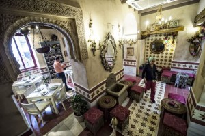 A view inside the 'Caravasar de Qurtuba' halal restaurant located near the historic mosque of Cordoba, Spain. Photo: EPA/TST/ANN