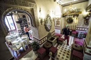 A view inside the 'Caravasar de Qurtuba' halal restaurant located near the historic mosque of Cordoba, Spain. Photo: EPA/TST/ANN