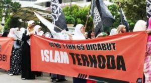 penodaan agama_Demo-penolakan-pencabutan-UU-penodaan-agama