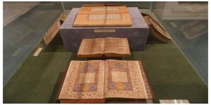 Old manuscripts of Al-Quran at Brunei Museum.