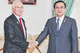 Najib Razak and Prayut Chan-O-Cha