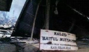 burn masjid